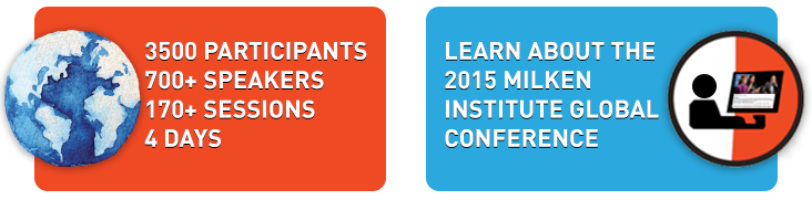 Learn about the 2015 Milken Institute Global Conference