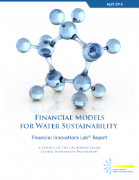 financial models for water sustainability