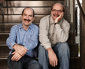 Authors Tom and David Kelley (right)
